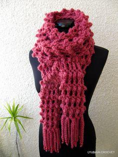 Trendy Crochet Scarf Patterns | Crochet Long Scarf Tutorial Pattern PDF, Trendy Crochet Scarf With ...