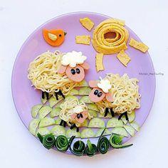 Noodle sheep dinner