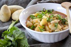 Zuppa di fagioli e patate