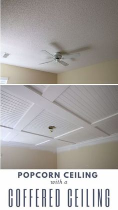 Cover a popcorn ceiling with a coffered ceiling Cov&; Cover a popcorn ceiling with a coffered ceiling Cov&; erunte johnson eruntejohnson diy home repair Cover a popcorn ceiling with […] Ceiling colors Home Improvement Projects, Home Projects, Ikea Skadis, Home Ceiling, Drop Ceiling Basement, Kitchen Ceilings, Drop Ceiling Tiles, Ceiling Trim, Dropped Ceiling