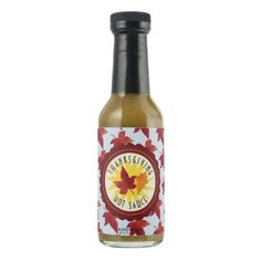 Happy Thanksgiving Sky and Fall Leaves Sauce - thanksgiving day family holiday decor design idea