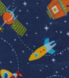 Anti-Pill Fleece Fabric-Galaxy Quest