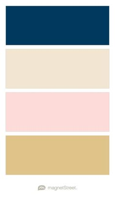 Navy, Champagne, Rose Gold, and Gold Wedding Color Palette - custom color palette created at MagnetStreet.com