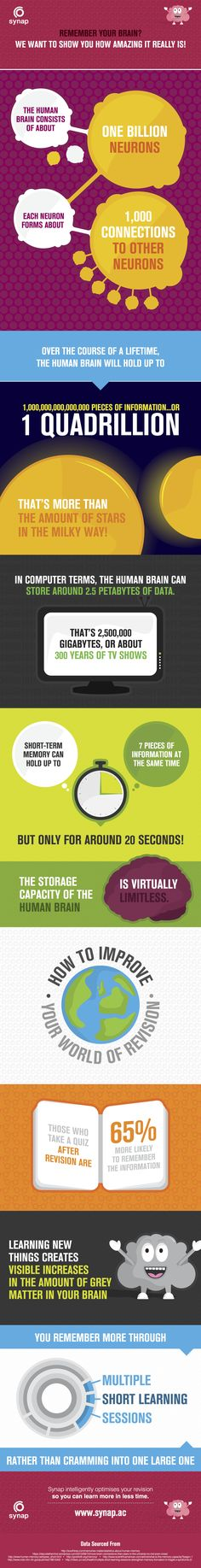 Your Amazing Memory Infographic - http://elearninginfographics.com/amazing-memory-infographic/