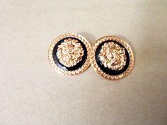 Ferocious Lion Head Earrings