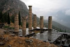 Greece - Delphi: Temple of Apollo by wallyg, via Flickr