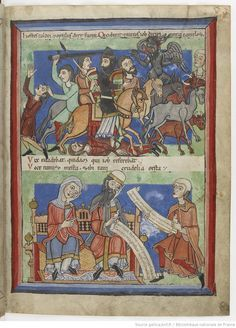 """Dernière partie de cet ouvrage"", 1175-1200. A beautifully detailed french manuscript from the end of the 12th century. Sowing clothing, armor and other details (see also other Pages)."