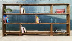 Rustic Bookcase Shelving Unit 100% Reclaimed Wood von LOVEWOODWORK