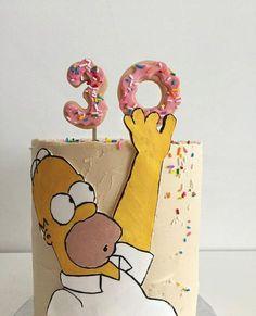 44 Ideas birthday cake for husband baking Birthday Cake For Husband, Dad Birthday Cakes, Happy Birthday, Birthday Cupcakes, Husband Cake, Bolo Simpsons, Simpsons Party, The Simpsons, Homer Simpson