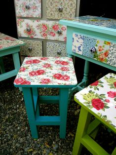 Great Advice for Challenging Vaneer Furniture Rehab – Lacquered Furniture – Veneer Ch … - Upcycled Furniture Thrifting Decoupage Furniture, Decoupage Box, Hand Painted Furniture, Funky Furniture, Refurbished Furniture, Repurposed Furniture, Shabby Chic Furniture, Furniture Projects, Furniture Makeover