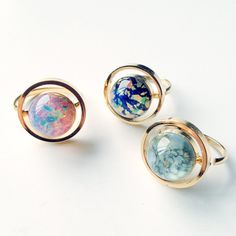 Mini Planet Ring. For the jetsetter! They'll love wearing this no matter where they are.