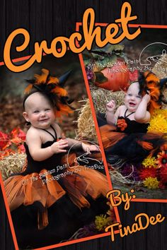 Crochet By: TinaDee A crochet witches Tutu dress made with black and orange glitter dusted tulle. Off The Beaten Path Photography By: TinaDee