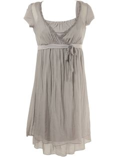 Silk grey dress from La Fée Maraboutée