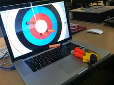 Bored at work? Try a little target practice.