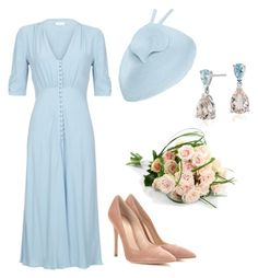 """Special Garden Party for Children's day"" by dresslikearoyal on Polyvore featuring Gianvito Rossi and Blue Nile"