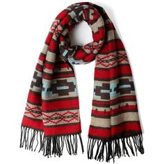 Aztec Pattern Scarf ($30) ❤ liked on Polyvore