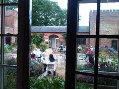 The view from National Trust Felbrigg Hall Shop.  Coffee in the courtyard anyone? Slice of cake?  Lovely!