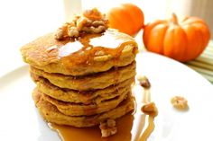Eating a Paleo diet breakfast does not mean eggs every morning! Try a delicious and healthy Pumpkin Pancakes!