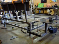 The Weld House - MODERN INDUSTRIAL STEEL FURNITUREbed frame under construction: