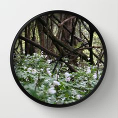 Shop Tales from the Norwegian forest's store featuring unique designs on various products across art prints, tech accessories, apparels, and home decor goods. Wall Clock Frame, Unique Wall Clocks, Natural Wood, Wall Art, Nature, Design, Naturaleza, Design Comics, Off Grid