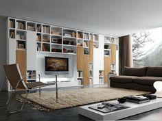 TV wall space height Wall shelves modern