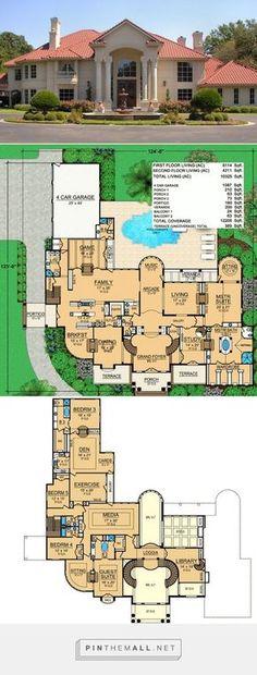 Ft Herrenhaus - House Floor Plans - Home Design House Plans Mansion, Luxury House Plans, Dream House Plans, House Floor Plans, Luxury Floor Plans, The Plan, How To Plan, Mansion Designs, Casas The Sims 4