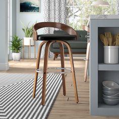 Maxime Swivel Bar Stool by Corrigan Studio – BabyPoring Shop Decor, Furniture, Bar Stools, Home Decor, Curved Wood, Wood Bar Stools, Mid Century Modern Design, Swivel Seating, Modern Bar