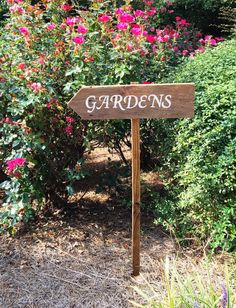 Garden Sign, Garden Stakes, Garden Decor, Wooden Yard Signs, Wedding Yard  Sign