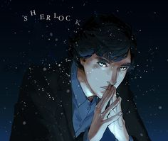 Sherlock fanart from tumblr. They've got the eyes JUST RIGHT :O
