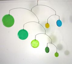 Sprouts Green Glass Mobile by LeahPellegrini on Etsy