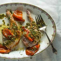 Pork Chops with Marinated Roasted Peppers by thecanalhouse via tastingtable #Pork_Chops #Peppers