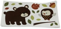 Nursery Wall Decals: Carter's Forest Friends Wall Decals, Tan/Choc from Kids Line. ............ Get Wall Decals at Amazon from Wall Decals Quotes Store