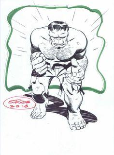 Steve Rude - Hulk 2 Comic Art