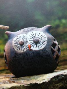 Pretty ceramic bubo