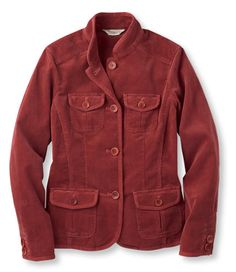 $79 Corduroy Cargo Jacket: Blazer in Apple Cinnamon | Free Shipping at L.L.Bean