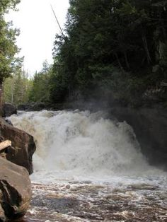 Sturgeon Falls is located in the Sturgeon River Gorge Wilderness in Ottawa National Forest, (Baraga & Houghton) Cos, MI