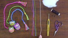 Hobby lavori femminili - ricamo - uncinetto - maglia: come creare un gufo segnalibro