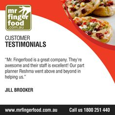 Never stress out again on your upcoming event! Hire www.Mrfingerfood.com.au where TRUE EXCELLENCE is brought right into your table. For enquiries and bookings, call party planner Nancy at 1300-369-058 (FREE CALL), Mondays to Sunday, 8AM-8PM. #cateringservices #cateringAustraliawide #partycatering #eventcatering #cateringcompany