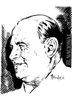 Caricatura al General Isaías Medina Angarita, militar, político, presidente de la República durante el período 1941-1945.   Foto: Caricaturista Morales / El Naciona
