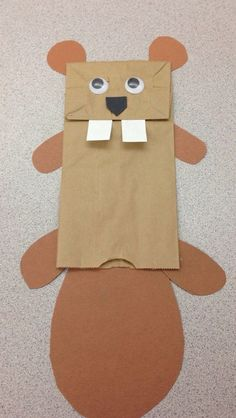 This beaver puppet craft can accompany a lesson on endangered animals. Mountain beavers are endangered.