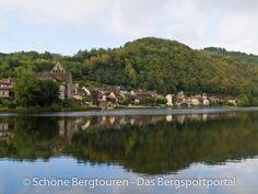 Beaulieu-Sur-Dordogne vom Wasser aus gesehen, Région Limousin, Frankreich - Foto: Mario Hübner