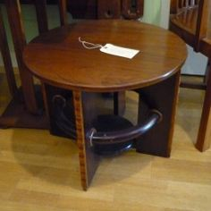 Round Art Deco Side Table