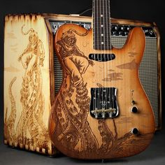 Engraved with artwork inspired by Fender designer Mike Whelan. Master and hand-aged by Shawn Greene and Jim Dolmage, The Kraken artwork depicts an undersea diver having an encounter with a formidable sea creature. There will only be five units of the K