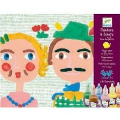 Finger Dabbing Fun Workshop by #Djeco - A great finger painting set for younger children. Use the little bottles to put the paint onto the pretty palette, dip your finger in the paint and off you go: follow the instructions to complete the funny backgrounds or do your own thing!