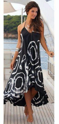 2019 Pop Women Cover Up Summer Halter Beach Dresses Long Dress Sundress Swimwear Beachwear Cover-ups Bathing Suit One Piece Celebridades Fashion, Bohemia Dress, Casual Dresses, Summer Dresses, Maxi Dresses, Long Dresses, Dress Long, Sleeveless Dresses, Dresses 2016