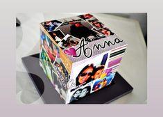 Curta essa opção decorativa e crie também em sua casa um criativo cubo com fotografias! Esta dica po