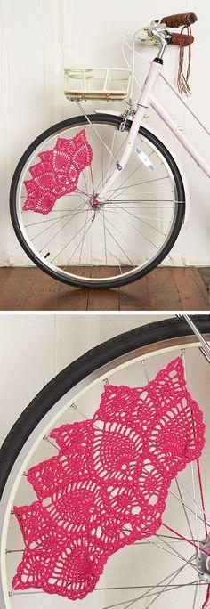 Crochet bike guard