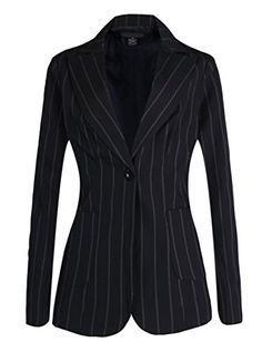 Womens Long Sleeve Solid Slim Casual Suit Jacket Blazer Coat Black 12 -- Read more at the image link.
