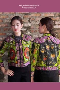 Batik Amarillis's Torera Vol 2 no 1 combining the patterns,colours,brilliance,elegance & luxurious materials intricate to this opulent piece with the androgynous classic . Amarillis, Androgynous, Feminine Style, Colours, Patterns, Elegant, Luxury, Blouse, Classic