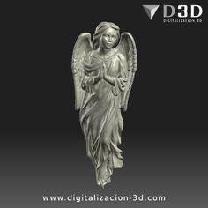 Digitalización 3d de ángel para altar. Vista frontal